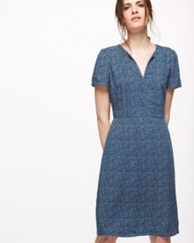 Jigsaw Linear Leaf Tea Dress