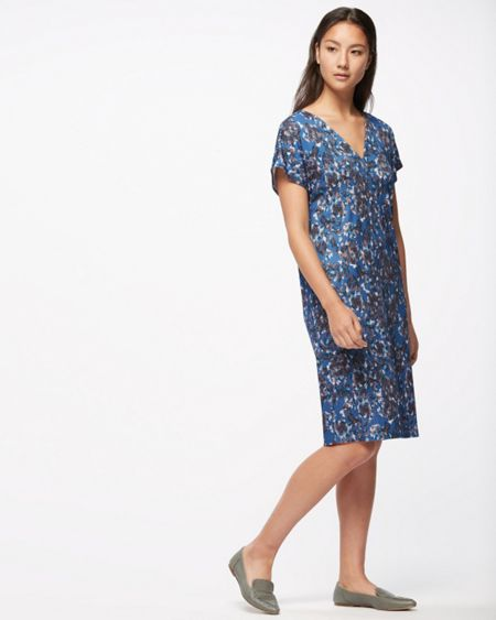 Jigsaw Georgia Flower V Neck Dress