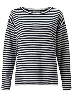 Double Faced Stripe Pullover