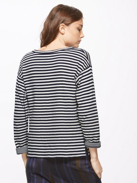 Jigsaw Double Faced Stripe Pullover