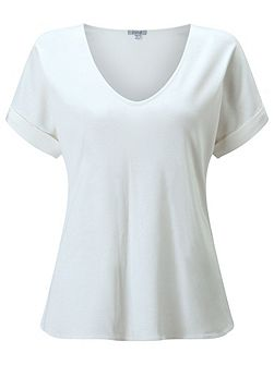 Silk Roll Sleeve Tee