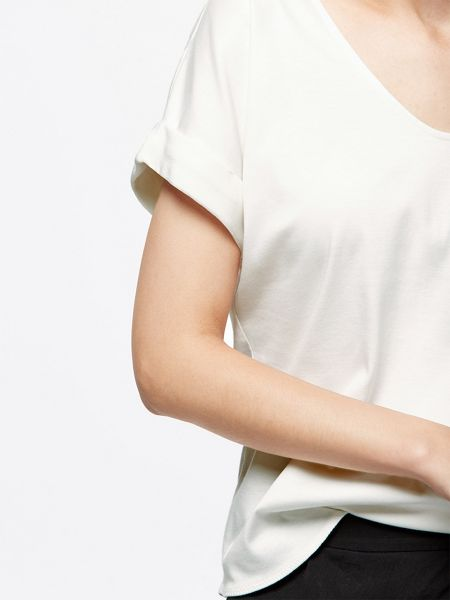 Jigsaw Silk Roll Sleeve Tee