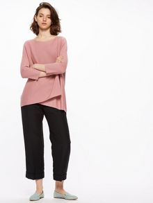 Jigsaw Wrap Front Boat Neck Jumper