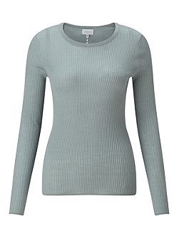 Rib Jumper With Back Pointelle