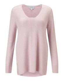 Jigsaw Slim Rib V Neck Jumper