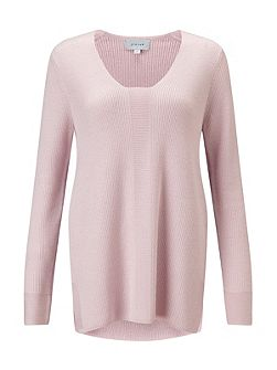 Slim Rib V Neck Jumper