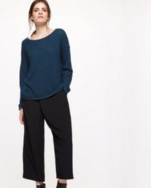 Jigsaw Plated Slouchy Sweater