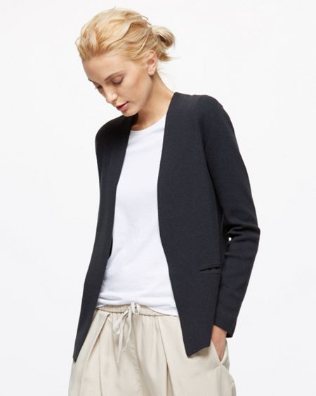 Jigsaw Viscose Wool Knit Blazer