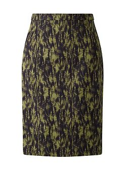 Cyanograph Floral Pencil Skirt