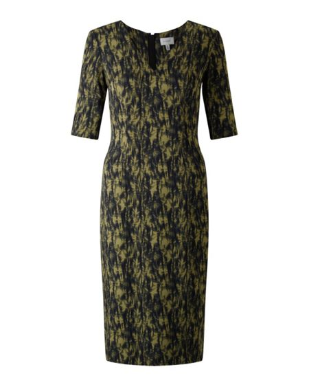 Jigsaw Cyanograph Floral Silk Dress