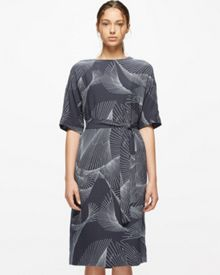 Jigsaw Broken Glass Crepe Dress