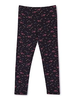 Girls Bear Print Leggings