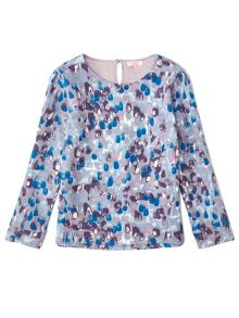 Jigsaw Girls Rain Print Sweatshirt