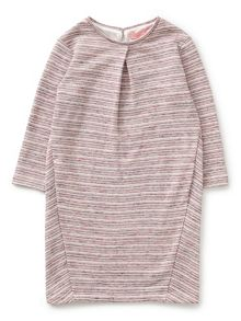 Jigsaw Girls Stripe Pleat Jersey Dress