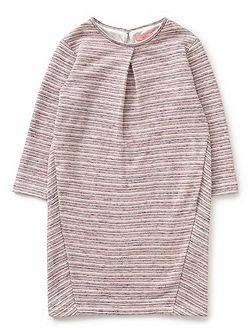 Girls Stripe Pleat Jersey Dress