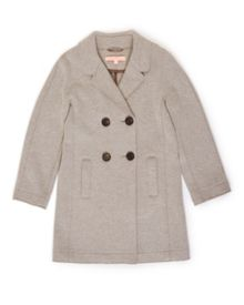 Jigsaw Girls Mini Raw Edge Jersey Coat