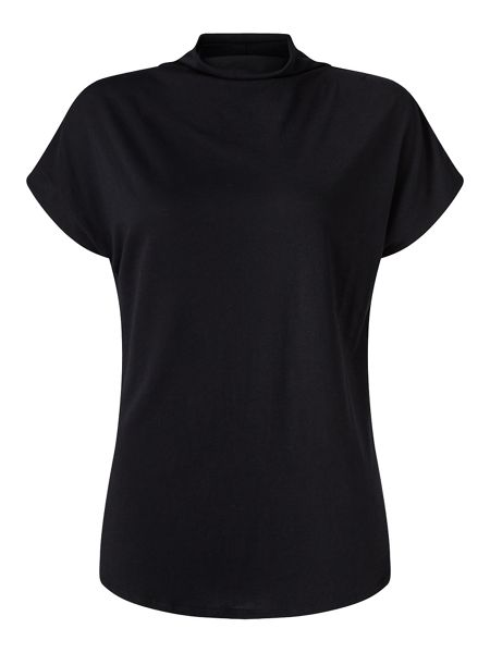 Jigsaw Turtleneck Cap Sleeve Tee