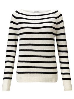 Edie Stripe Cashmere Sweater