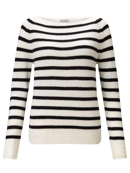 Jigsaw Edie Stripe Cashmere Sweater