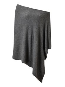 Jigsaw Longer Knit Rib Border Poncho