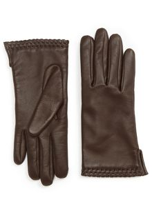 Jigsaw Ginny whipstitch leather gloves
