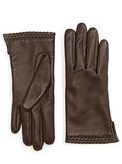 Ginny whipstitch leather gloves