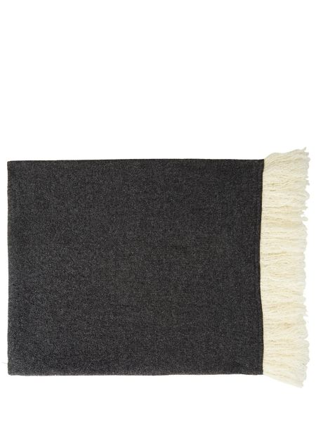 Jigsaw Suzie wool fringe edged scarf