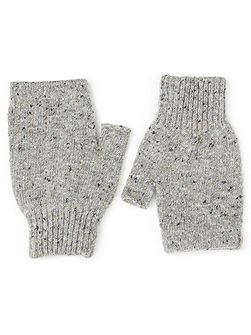Hana donegal fingerless mittens