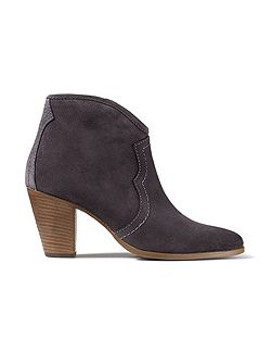 Cara suede side zip boot