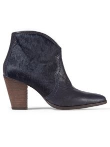Jigsaw Cara textured side zip boot