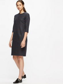 Jigsaw Knitted Milano Check Dress