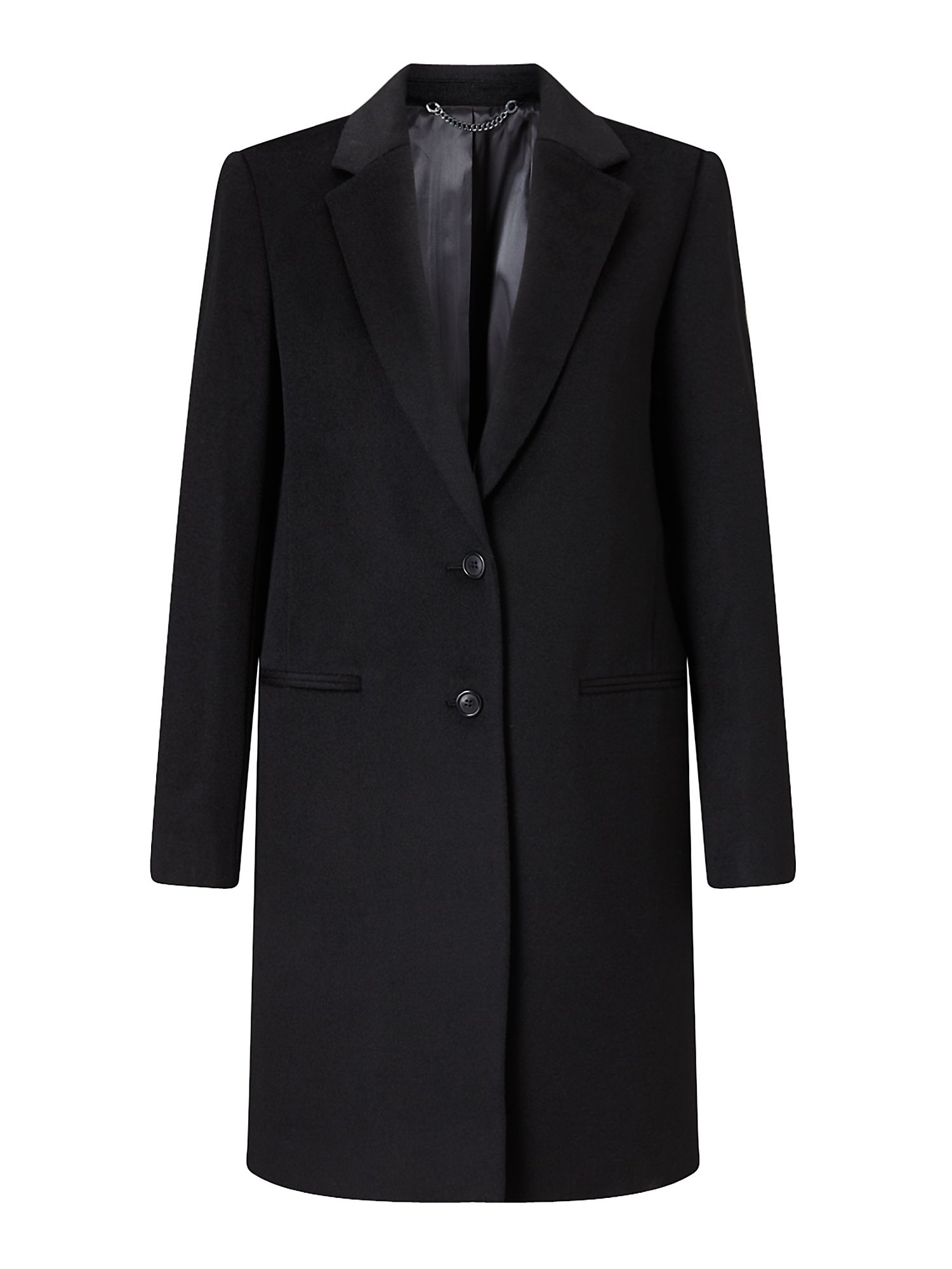 Jigsaw Sb City Wool Coat, Black