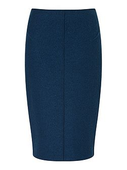 Boiled Wool Pencil Skirt