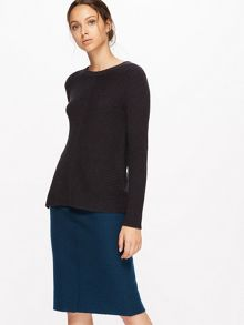 Jigsaw Boiled Wool Pencil Skirt