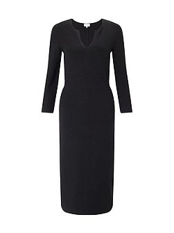 Silk Tencel Fitted Knit Dress