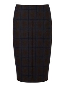 Jigsaw Knitted Milano Check Skirt
