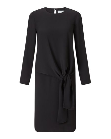 Jigsaw Crepe Tie Front Dress