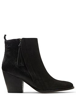 Adyson side zip calf hair boot