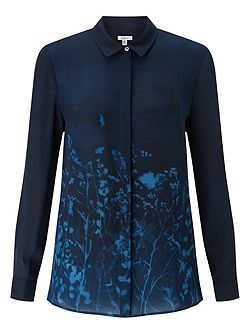 Floral Exposure Silk Blouse