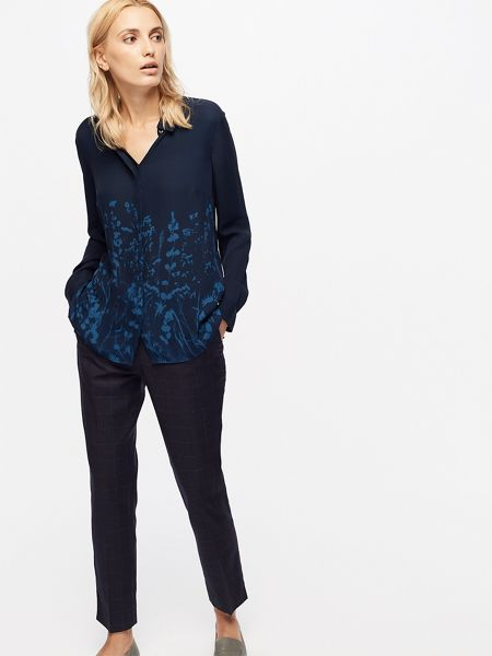 Jigsaw Floral Exposure Silk Blouse