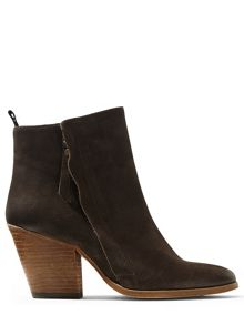 Jigsaw Adyson side zip suede boot