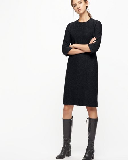 Jigsaw Speckled Wool Knitted Dress