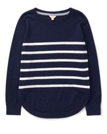 Jigsaw Girls Cotton Stripe Sweatshirt