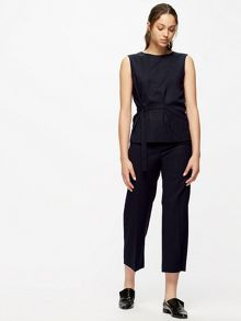 Jigsaw Wool Flannel Crop Trouser