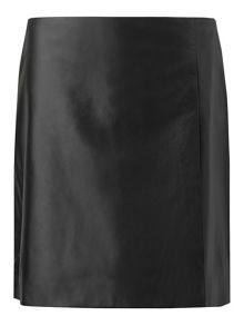Jigsaw Leather Wrap Mini Skirt