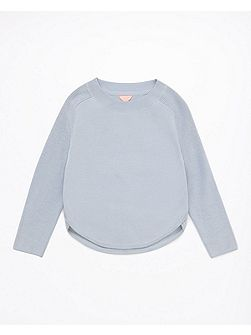 Girls Cotton Side Split Sweatshirt