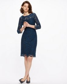 Jigsaw 3/4 Sleeve Lace Dress