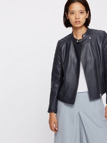 Jigsaw Nappa Leather Biker Jacket