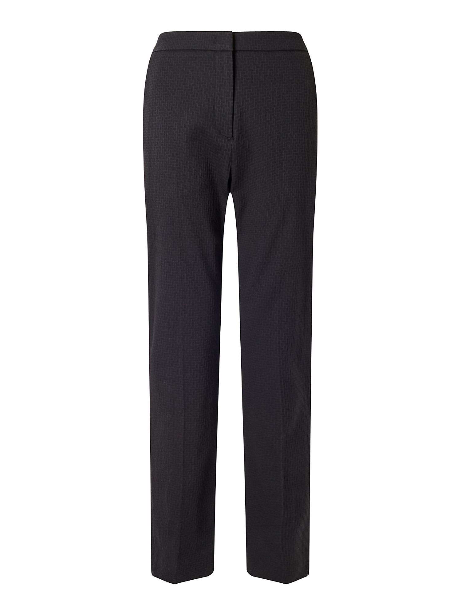 Jigsaw Weave Jacquard Trouser, Black