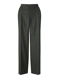 Wool Gingham Slouch Trouser